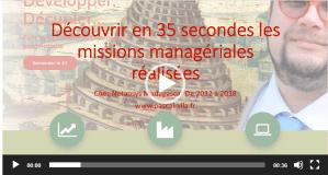 En 35 secondes : les missions managériales de ma dernière expérience pro