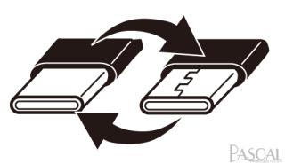 Type-Cコネクタは裏表関係なく抜き挿し可能です