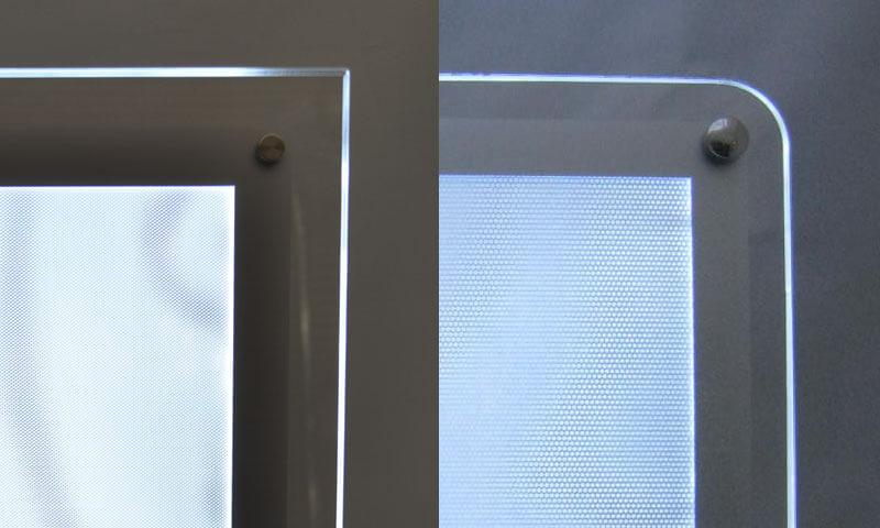LEDパネル 角比較
