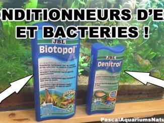 biotopol denitrol JBL et autres conditionneurs d'eau et bactéries