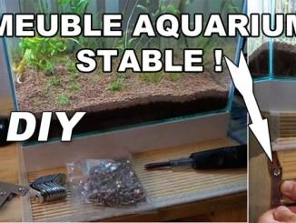 Rendre son meuble aquarium stable