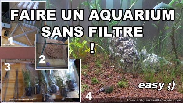 tuto aquarium naturel sans filtre