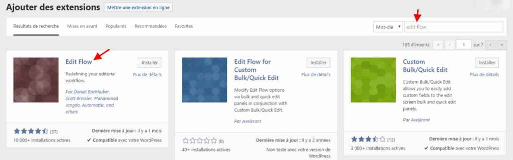 Installer et activer Edit Flow