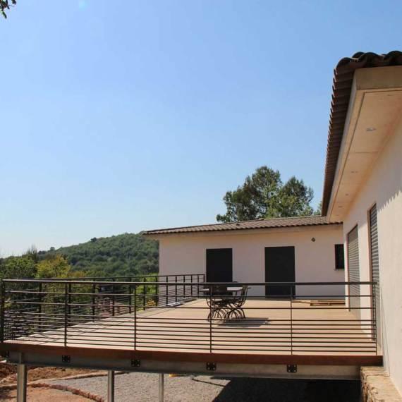 villa rougiers terrasse bois