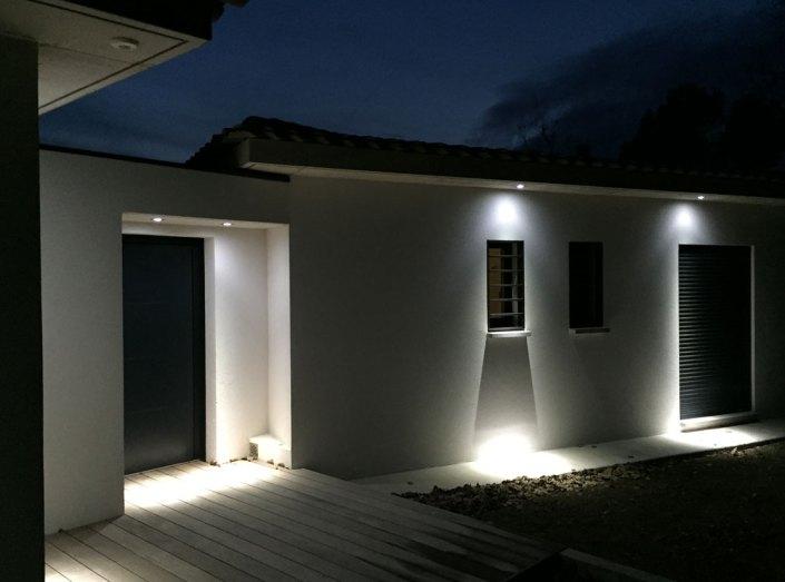 maison contemporaine nuit
