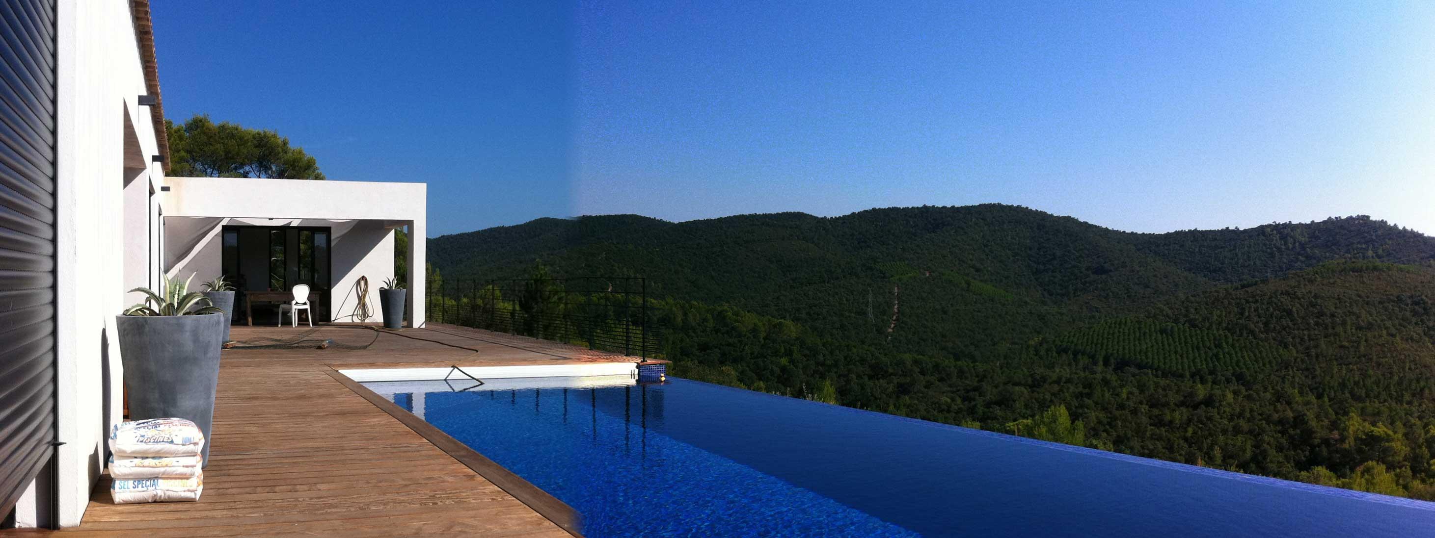 villa contemporaine pierrefeu piscine