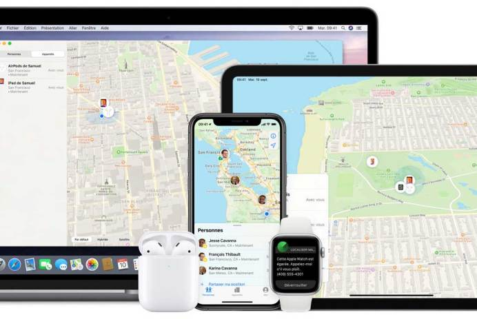 comment retrouver iphone ipad apple watch airpods perdus