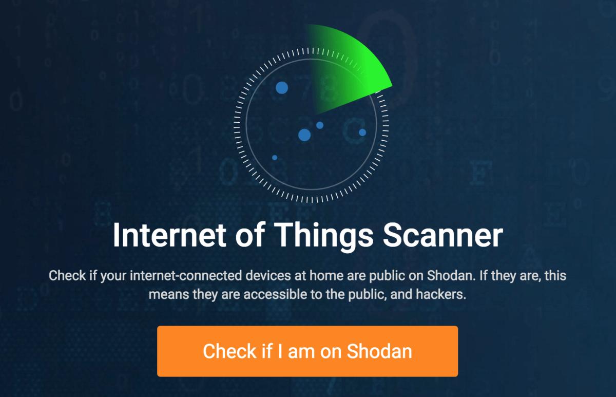 shodan internet of things scanner