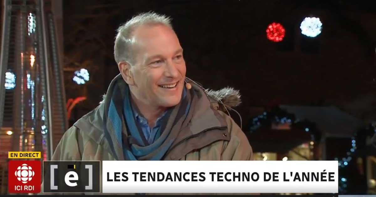Pascal Forget chroniqueur techno tendance techno Noël 2019 RDI