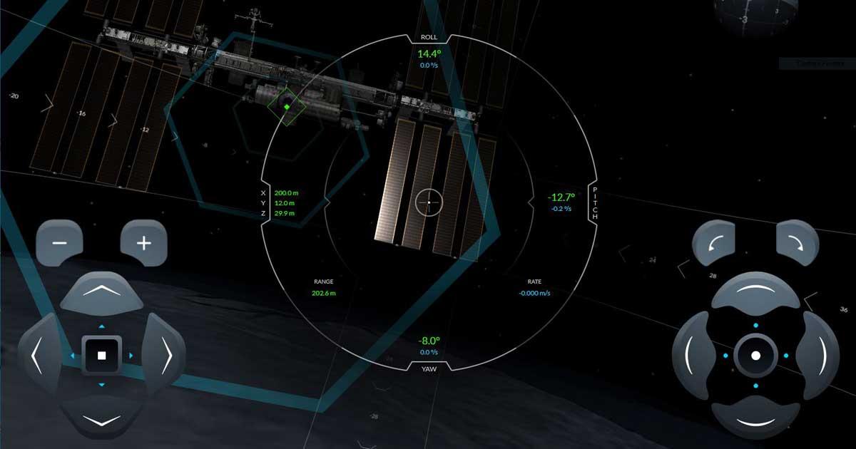 Simulateur amarrage SpaceX Station Spatiale Internationale