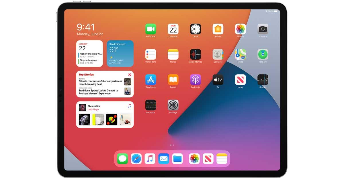 iPad OS widget WWDC 2020