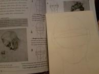 Studio ovale e testa 1