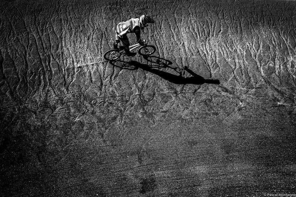 BMX rider Lucas Walter is training for the next world championship #bmx #bmxlife #rider #worldchampionship #training #trainingday #blackandwhite #blackandwhitephotography #run #jump #sand #sport #sports #picoftheday #instadaily #dailypic