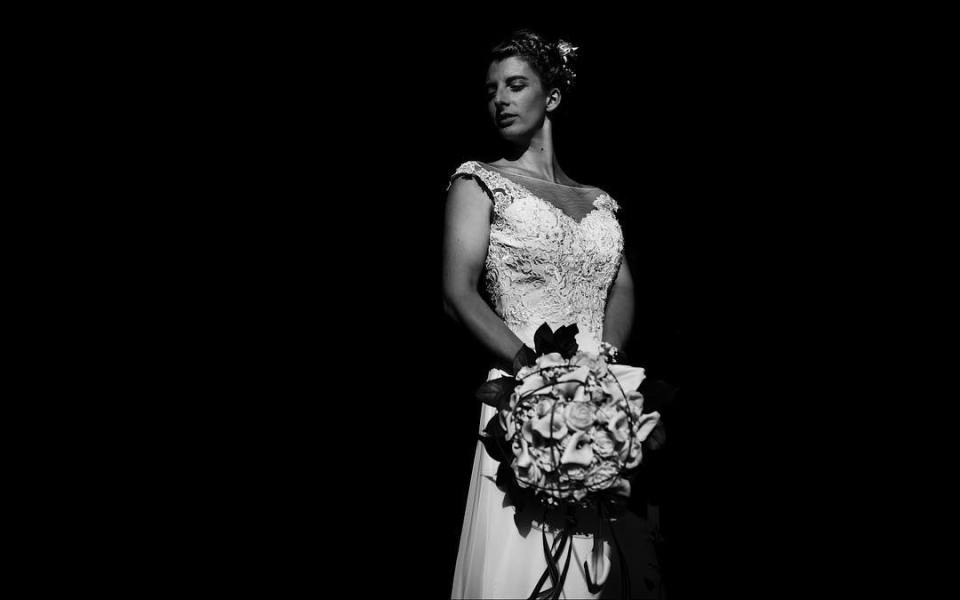 Sweet Charlotte, few minutes before her wedding with Mathieu. #wedding #weddingday #weddingdress #weddingbouquet #weddingportrait #portrait #portraitphotography #bnw #blackandwhite #bnwphotography #blackandwhitephotography #flowers #dress #hairstyle #instalike #instagood #weddingpreparation #instawedding