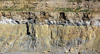 Fresney-le-Puceux, discordance Jurassique inférieur / Socle