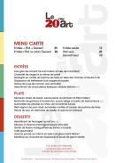 Infographiste Rouen Pascal Ridel Identité visuelle menu restaurant