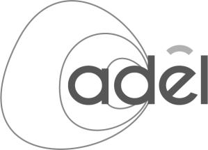 Infographiste Rouen Pascal Ridel Création logo Adel évolution b&w la Fapil