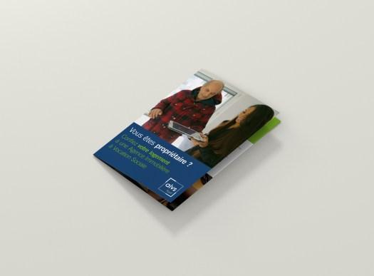 Infographiste Rouen Pascal Ridel - Plaquette commerciale 3 volets A5 couverture