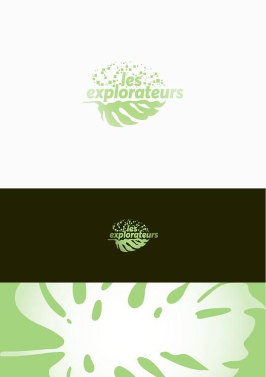 Infographiste Rouen Pascal Ridel - recherche d'identité visuelle - Logo feuille les explorateurs - Rouen