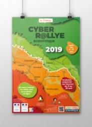 Infographiste Rouen Pascal Ridel - Affiche Cyber Rallye scientifique 2019