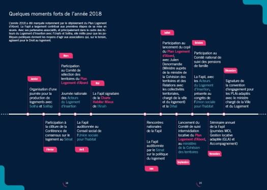 Infographiste Rouen - Pascal Ridel - Rapport d'activité - frise chronologique