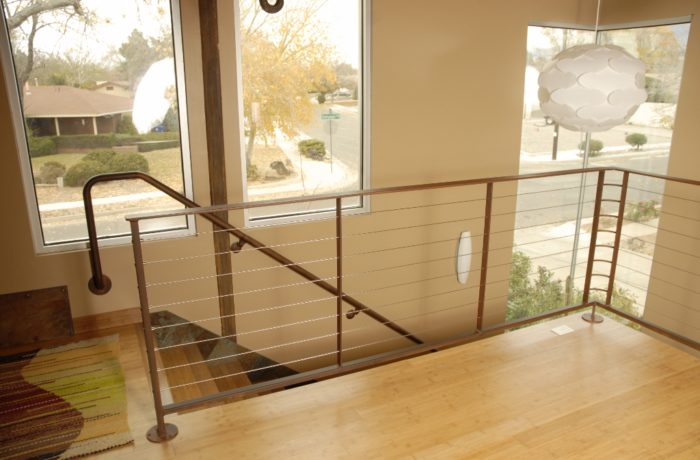Loft Cable Railing Residential Interior Pascetti Steel