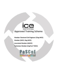 We would be pleased to hear from any enthusiastic civil engineers looking advance their careers also    consulting ice accredited training scheme rh pascoe ltd