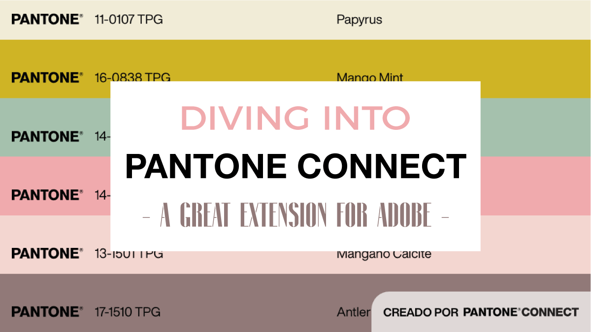 DIVING INTO PANTONE CONNECT