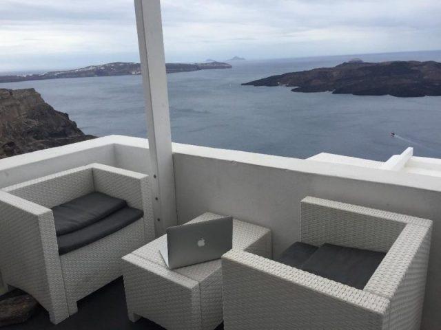 Apartamento acantilado Santorini