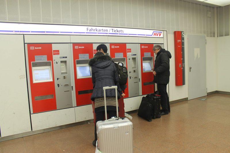 Máquinas expendedoras en el aeropuerto de Hamburgo