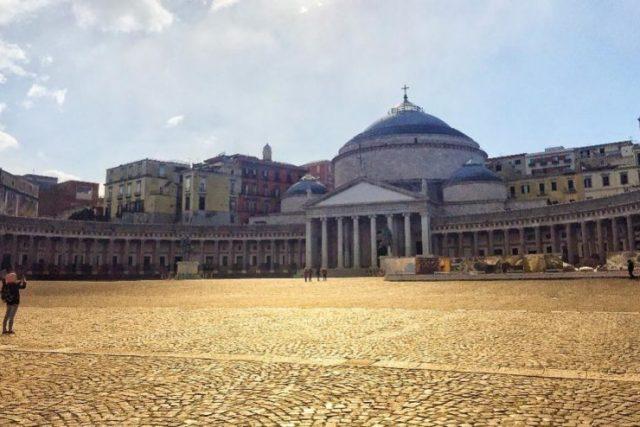 Plaza del Plebiscito Napoles Italia