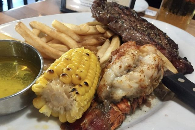 Steak and lobster Chuck's Roadhouse Bar & Grill