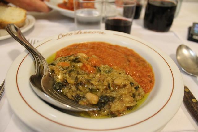 Zuppe tipiche Fiorentini Coco Lezzone Florencia