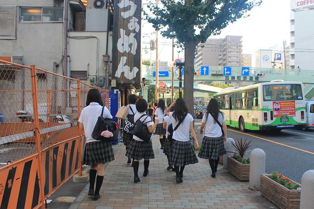Adolescentes japonesas en Kobe Japon