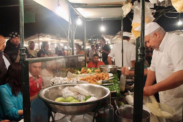 Comida callejera Marrakech