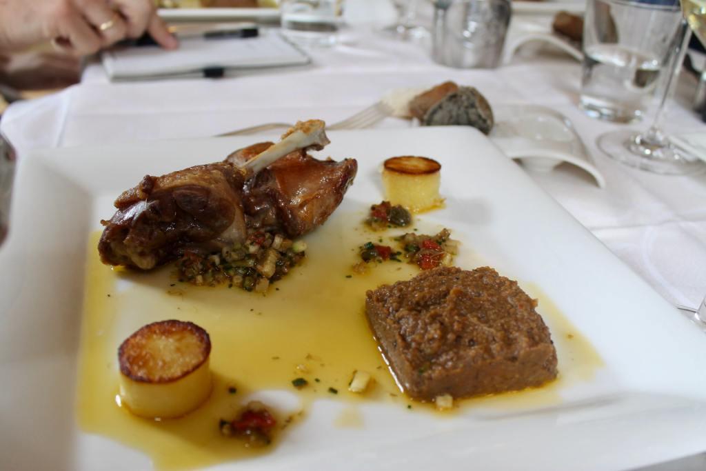 Confit de pato Restaurante L'Art de Vivre Spa Belgica