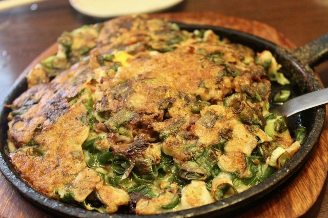 Okonomiyaki de verduras Kyoto Station