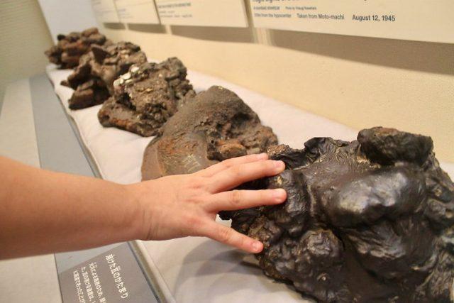 Piedras casi derretidas Hiroshima