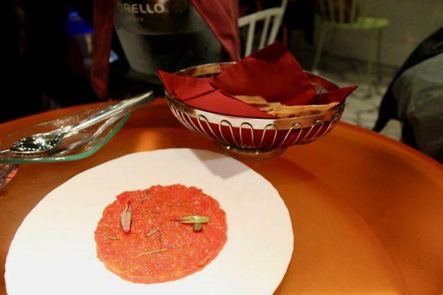 Tartar de tomate Tickets Barcelona