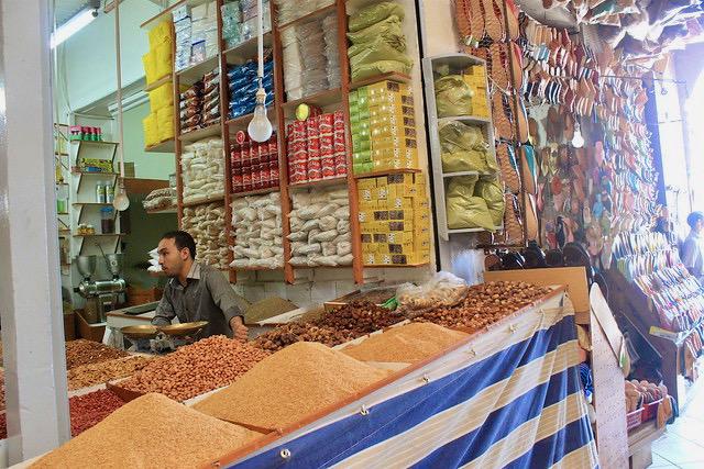 Tienda especias Zoco de Marrakech