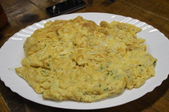 Tortilla de bacalao Sidrería Martitxonea