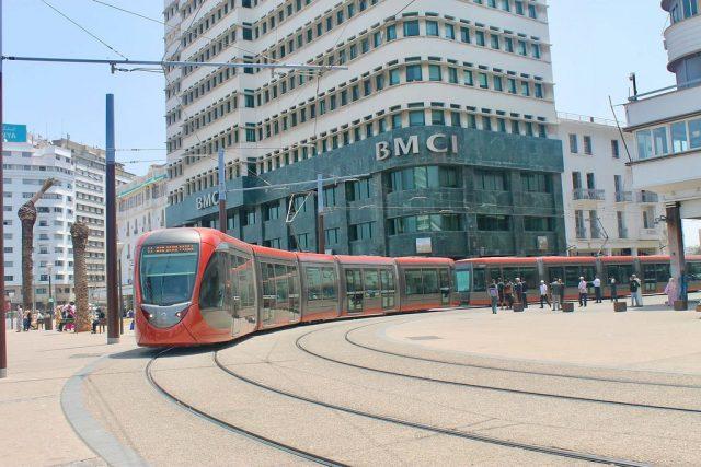 Transporte público en Casablanca-tranvía