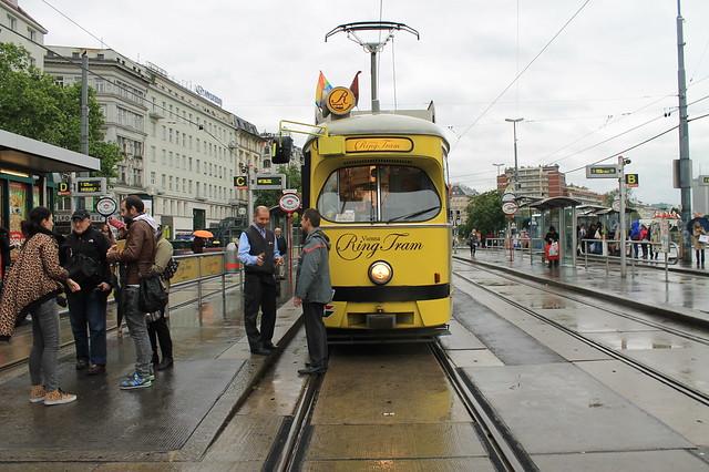 Transporte público en Viena Tranvia turistico
