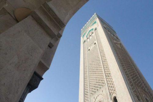Vista minarete Mezquita Hassan II