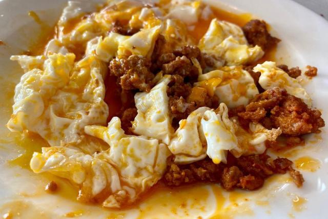 Huevos asturianos Palacio de Luces