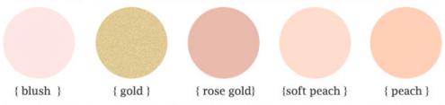 rose+gold+blush+color+palette+rose+gold+blush+color