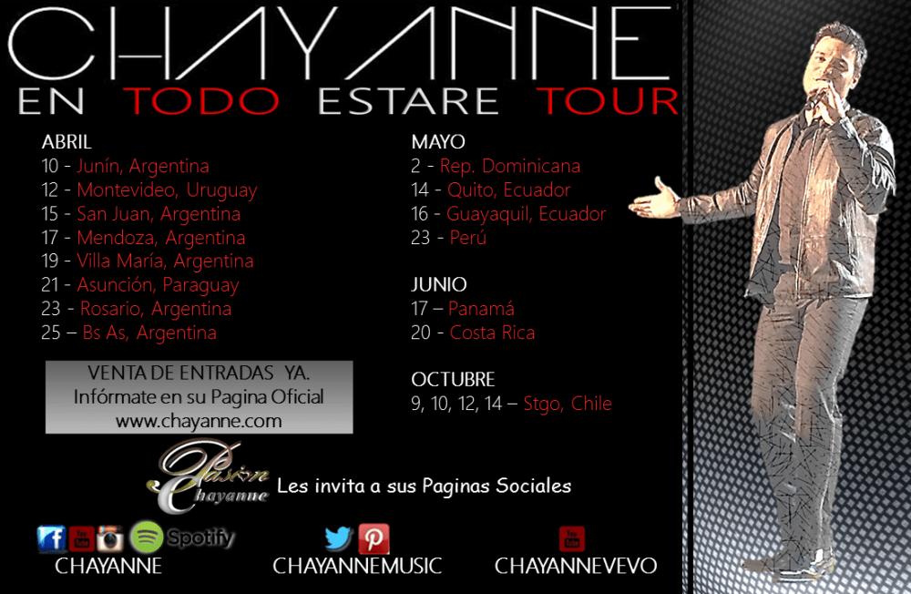 CHAYANNE EN TODO ESTARÉ TOUR, LO MÁS VISITADO Y ESPERADO DEL 2015 (2/3)