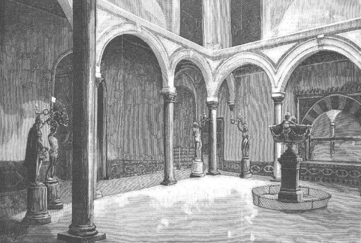 Patio interior del palacio de Orleans y Borbón (hoy ayuntamiento), donde a menudo se han realizado conciertos de cámara
