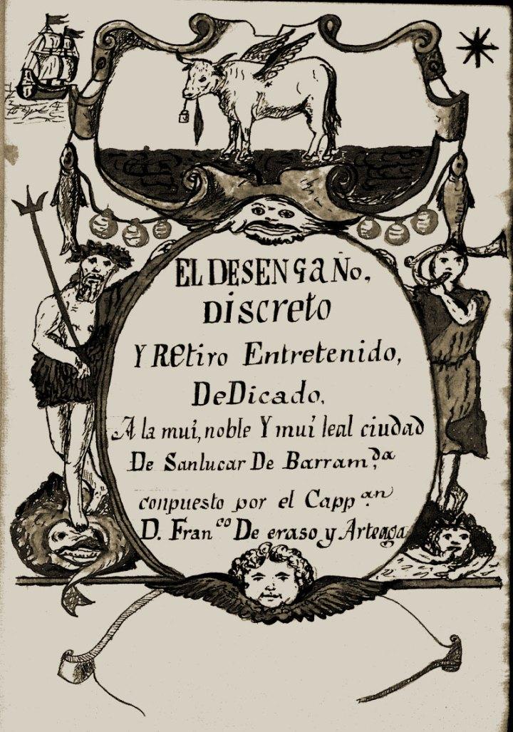 Portada del manuscrito de El desengaño discreto y retiro entretenido (Francisco de Eraso y Arteaga, ca. 1658)