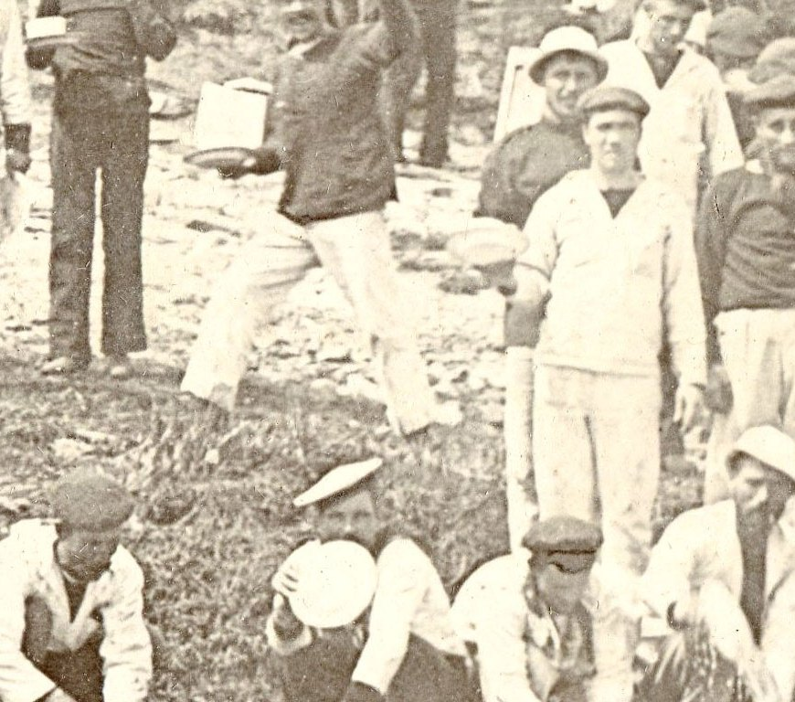 Prisioneros españoles durante la Guerra de Cuba.